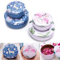 Cute Flamingo Deer Tin Jewelry Display Gift Box Candy Storage Case Organi np