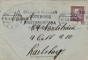 1922 GOTEBORG SWEDEN COVER WITH A FINE STAMP 99p START!