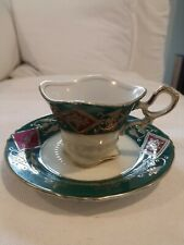 Antique Gilded Demitasse Cup and Saucer Uca6Co China Hand Painted Japan