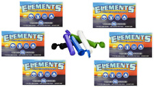 6 x Packs ( Elements 300 1 1/4 1.25 ) Ultra Thin Rice Rolling Paper + FREE TUBES