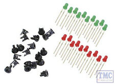 PL-30 Peco LEDS 10 Green 10 Red & 20 Panel Clips