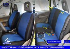 4 POSTI COMPLETE Blu 34 !SU MISURA FODERE COPRISEDILI Fiat Panda 2003/>2011