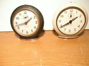 2 Vintage Westclox Baby Ben Style 6 alarm clocks