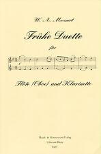 W. A. Mozart - Frühe Duette für Flöte (Oboe) und Klarinette in B