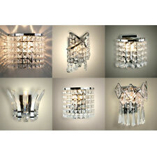 Metal led sconce wall lights ebay modern acrylic crystal led indoor wall sconce chandelier light fittings lights aloadofball Gallery