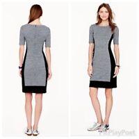 J Crew Womens Size 8 Gray Black Dress Color Block Jersey Knit