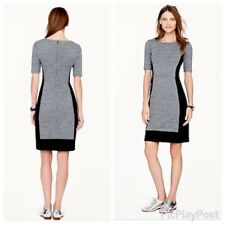 J Crew Womens Size 8 Gray Black Dress Color Block Jersey Knit