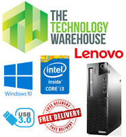 Lenovo Thinkcentre M83 PC - Fast i3 CPU up to 16GB ram and 480GB SSD & Win 10