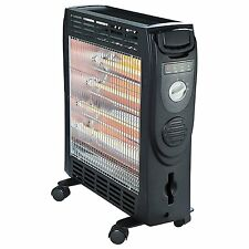 PORTABLE OPTIMUS ELECTRIC SPACE QUARTZ and CONVECTION RADIANT HEATER with WHEELS