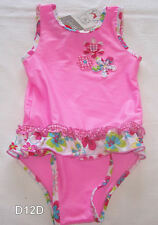 Target Baby Girls Pink Floral Print One Piece Bathers Swimsuit Size 2 New