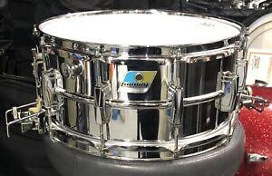 Vintage Ludwig 6.5 x 14 Super Sensitive 411 Snare Drum including Its Case
