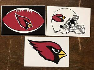 Arizona Cardinals NFL 3 Pack Sticker Lot Helmet, Oval Logo, Logo