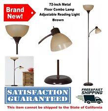 72 Metal Floor Combo Lamp w/ Adjustable Reading Light...
