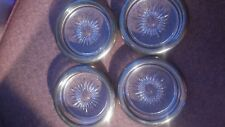 """Cut-Glass-Serving Made in Italy 4 Small Kitchen Trays Plates 4""""x0.75"""""""