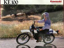 Kawasaki ke100 USA 1990 prospectus brochure prospect US