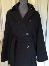 Michael Kors  Winter Coat Size 2 Style Poncho Color Gray 80% Wool & 20% Nylon