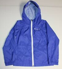 Girls Columbia Switchback Lightweight Full Zip Hooded Youth Jacket XS 6 Blue