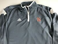 Adidas ClimaLite Jacket Mens Large Long Sleeve 1/4 Zip Pullover Letter B School
