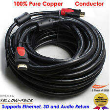 50Ft Gold HDMI to HDMI Cable Audio Visual Connection Lead V1.4 1080P HDTV 3D Hot