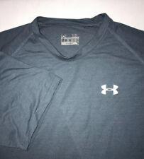 Men's Under Armour UA T-Shirt Size XL Loose Solid Blue Heatgear