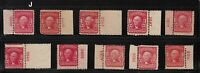 1903 Sc 319 MNH plate number single, Hebert CV $56 each