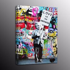 Banksy Art Canvas Prints Einstein Street Art Wall Painting Home Decor-No Frame