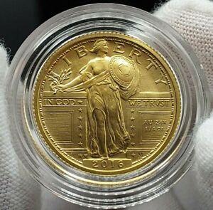 2016 W Standing Liberty Centennial Gold Coin 1/4 oz .9999 Gold Quarter 16XC