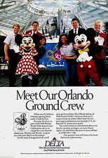 1992 DELTA AIRLINES Walt Disney World AD w/ Mickey & Minnie Mouse AD