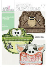 Anita Goodesign Embroidery Machine Design CD FACE POCKET PURSES