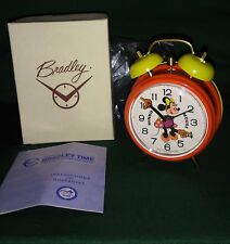 Minnie Mouse Bradley alarm clock mint unused in nice original box 60's era