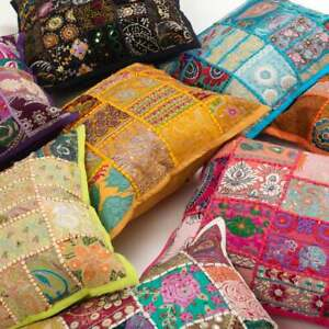 New Indien Handmade Khambadia Multi Color Home Decor Pillow Cushion Cover 25Pc
