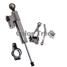 For Gray YAMAHA MT-09 FZ-09 2014 Steering Damper Stabilizer Bracket Mount Kit
