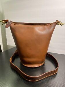 Vintage Coach British Tan Helen's Legacy Duffle Bucket Bag Crossbody 9953