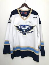 Fresno Falcons Mens SP Hockey Jersey Size 54 Signed