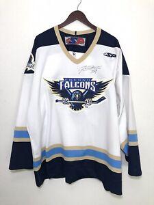 Fresno Falcons Mens SP Hockey Jersey Size 54 Signed