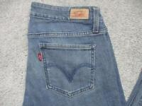 WOMENS LEVI 524 SIZE 11 TOO SUPERLOW SKINNY STRETCH JEANS / REF A18 631