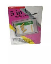 PCMCIA Media Card Reader SD, MMC, SM, Memory Stick Kartenleser Laptop Adapter
