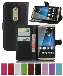 """Wallet Leather Flip Card Case Pouch Cover For ZTE Axon 7 5.5"""" Genuine AuSeller"""