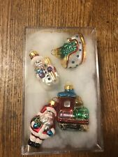 Vintage Michaels Hand Crafted Glass Christmas Ornaments