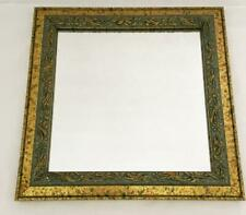 """2 10"""" Square Decorative Mirrors Gold & Green Framed Wall Hangings"""
