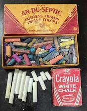 Vintage An-Du-Septic White Dustless Chalk Binney & Smith Crayons