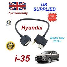 For Hyundai i35 iPhone 3gs 4 4s iPod USB & 3.5m Aux Audio Cable Model Year 2012+