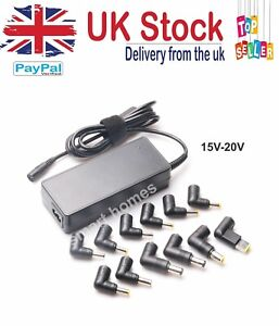 Universal Laptop Charger Adapter 90W AC Power Multi Connectors