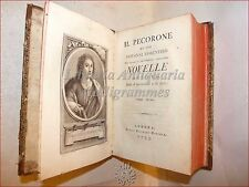 IL PECORONE di Giovanni FIORENTINO 2 volumi in 1, Londra 1793 Bancker Ritratto