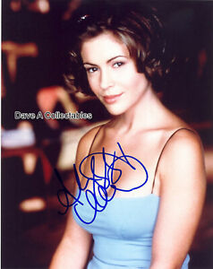 ALYSSA MILANO signed photo - CHARMED - MELROSE PLACE - D4530