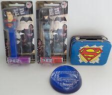 DC COMICS : SUPERMAN TIN, PAPERWEIGHT, CANDY DISPENSER, BATMAN CANDY DISPENSER
