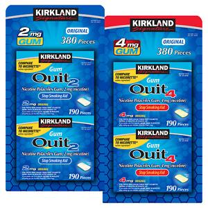 Kirkland Signature Quit Gum 2 mg. or 4 mg., 380 Pieces