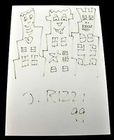 James RIZZI: Original Zeichnung, handsigniert auf Karton 1999 Unikat 21 X 29 CM