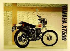 Yamaha XT500 Enduro Trail Bike Road Motorcycle Original Vintage 1976 Brochure