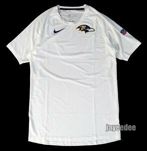 NIKE PRO BREATHE BALTIMORE RAVENS SHORT SLEEVE FITTED SHIRT TEAM ISSUE PE L